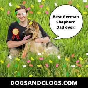 German Shepherd Happy Fathers Day